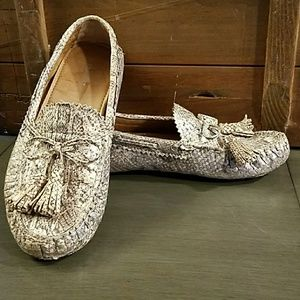 Very nice Coach Nadia snakeskin print loafers !